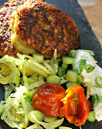 Squash - Courgetter frikadeller - zucchini fritters low carb