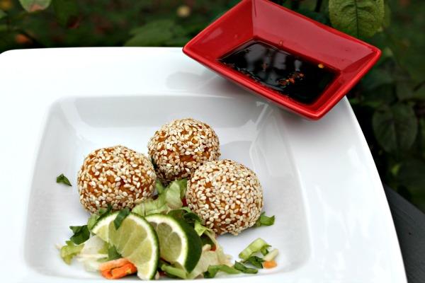 Græskar risboller med sesam