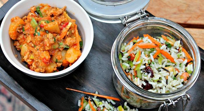 salat af vilde ris - samt vintergryde - alt i een