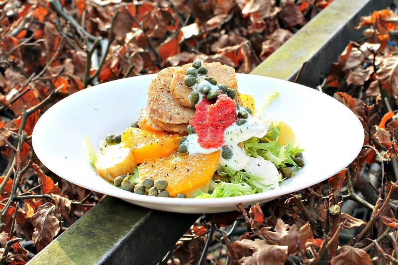 salat med ristet torskerogn
