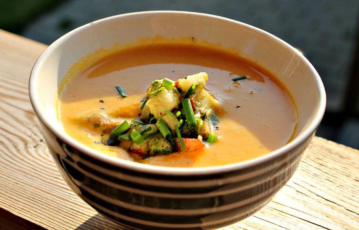 gulerodssuppe med ingefær