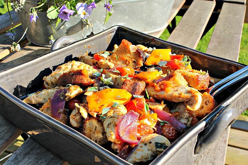 Lun salat med kylling