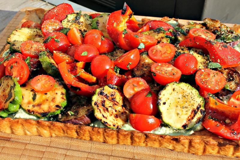 tærte med grillet grøntsager, Mascarpone med krydderurter